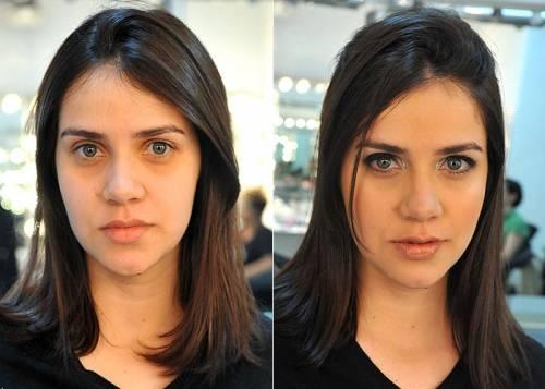 foto de maquiagem air brush antes e depois