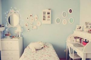 quarto azul para meninas
