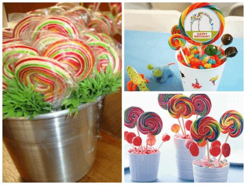 mesa de festa infantil com doces