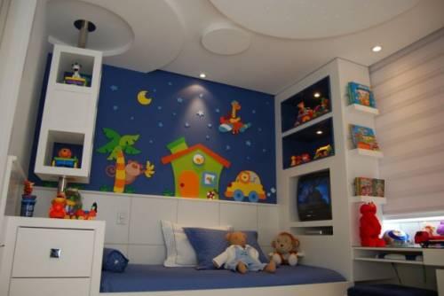 Fotos de decoração de quarto infantil masculino colorido azul