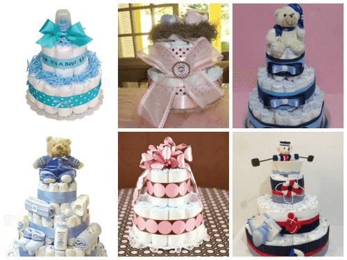 fotos de bolos de chá de bebê