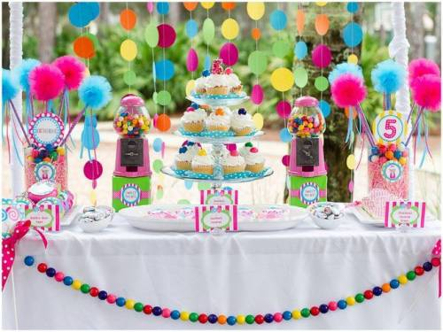 decoração diferente para festa infantil - menina