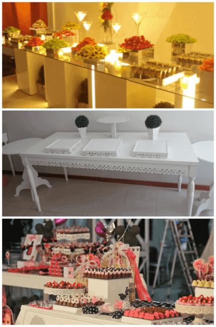 mesa de festa infantil simples