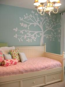 quarto azul e rosa para meninas