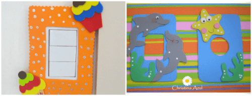 Enfeites diferentes para quarto de bebê - interruptor
