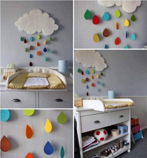 Artesanato X Manufatura ~ Enfeites para quarto de beb u00ea Como fazer Passo a Passo!
