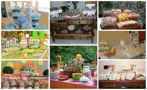 fotos de mesa de festa infantil decorada