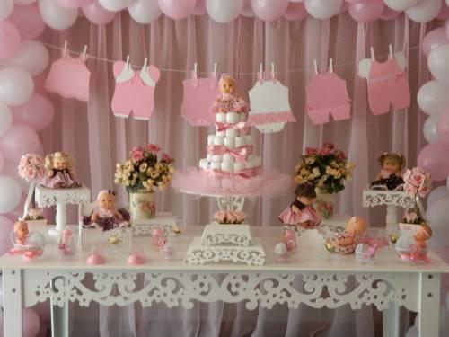 decoração de cha de bebê feminino