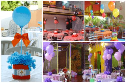mesa de festa infantil clean - convidados