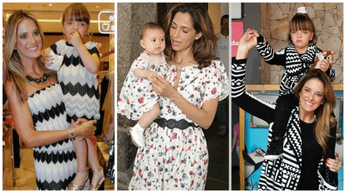 Vestido de festa infantil combinando com a mãe