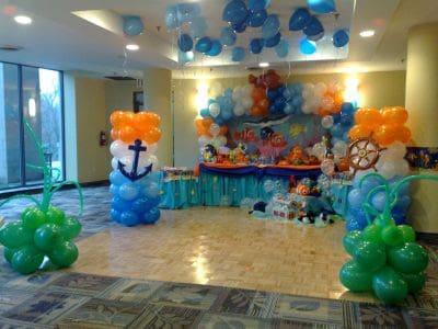 como fazer decoração de festa infantil em casa com balões