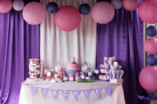 decoração de festa infantil em casa para menina