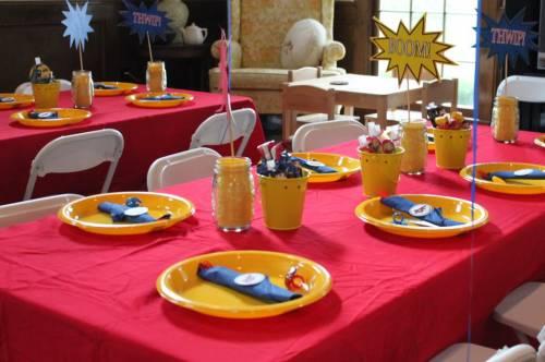 decoração de mesa de festa infantil em casa passo a passo