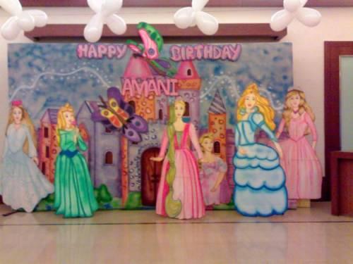 decoração de festa infantil em casa tema princesas