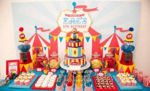 festa infantil circo de menina