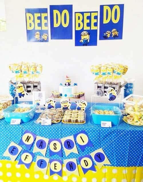 ideias para Festa dos Minions
