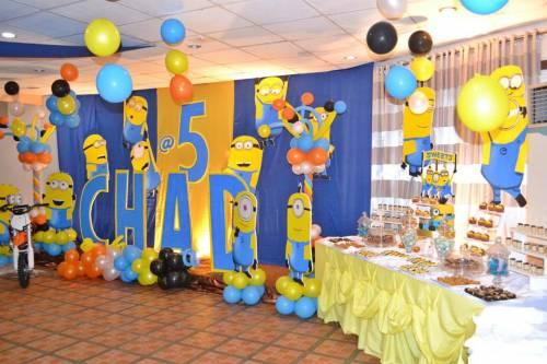 Decoração de festa dos minions