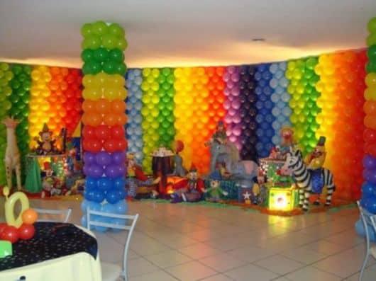 decoração de festa infantil com balões passo a passo
