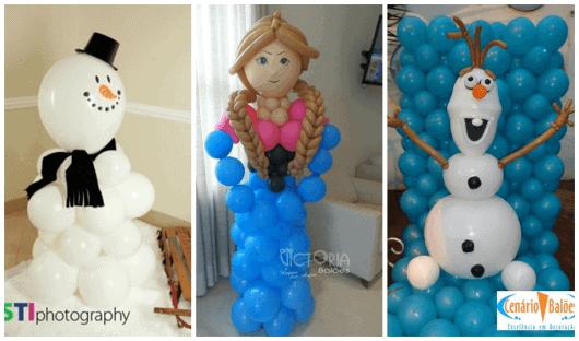 fazer personagens com balões para crianças