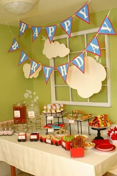 decoração de festa infantil simples e barata para menino