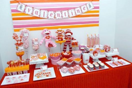 decoração rosa de festa infantil simples