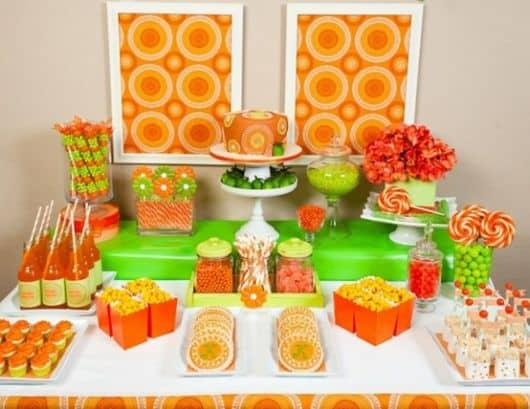 decoração clean fácil e barata para festa de anivesário