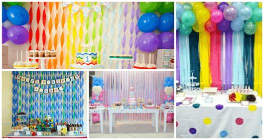 decoração de aniversário infantil de baixo custo