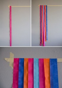 ornamentação com papel crepom