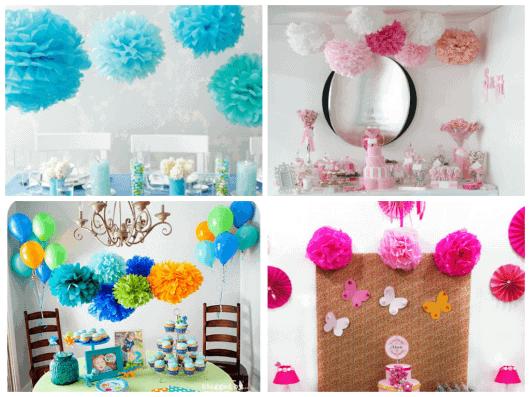 decoração de festa infantil simples e chique