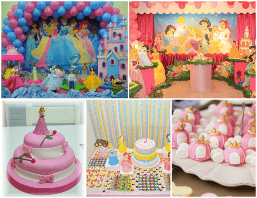 temas de festa infantil 2 anos - princesas