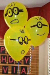 Decoração de festa para criança com balões