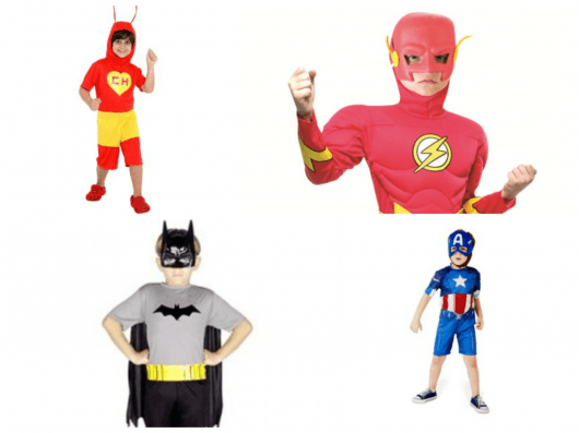 fantasia de heróis para meninos
