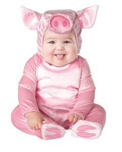 bebê fantasiada de porquinha