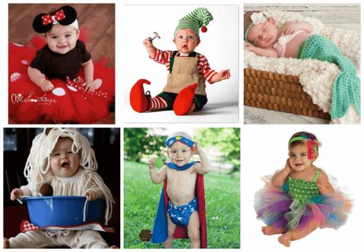 bebês fantasiados para carnaval