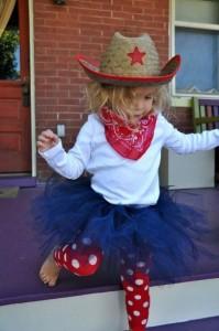 fantasia de cowgirl para meninas