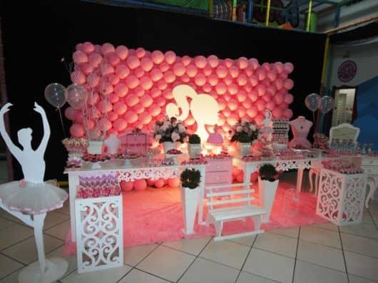 fotos de aniversário infantil da barbie bailarina