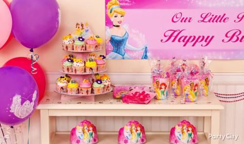 decoração de festa infantil das princesas