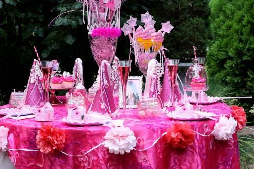 festa das princesas - enfeite de mesa