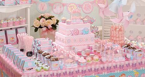 Decoração de mesa de bolo de Festa Bailarina