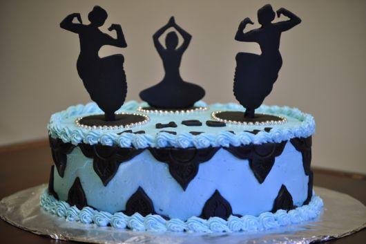 Bolo para festa bailarina - fotos
