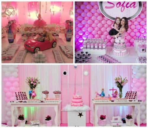 temas de festa infantil feminino - barbie fotos