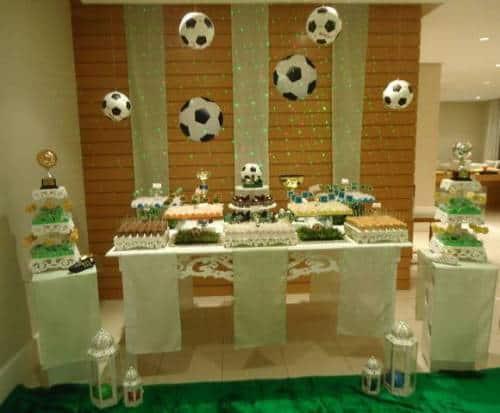 festa para criança que gosta de futebol