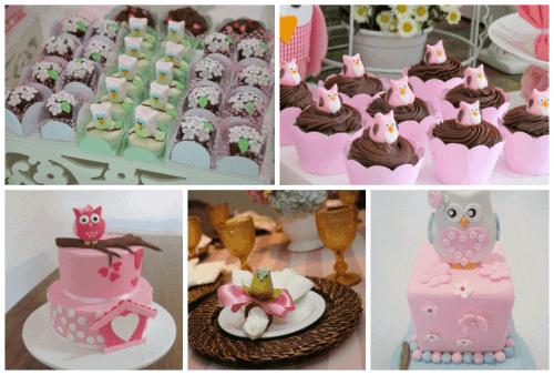 decorações para crianças com rosa e marrom