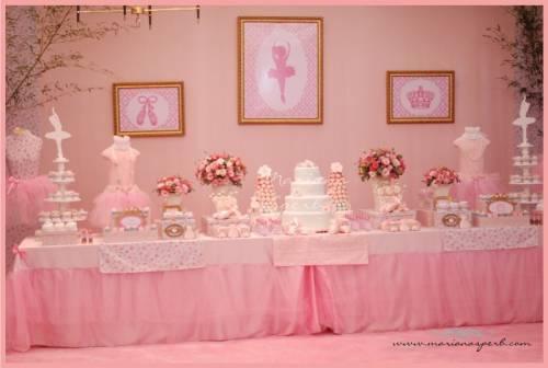 decorações de festa de aniversário rosa para meninas