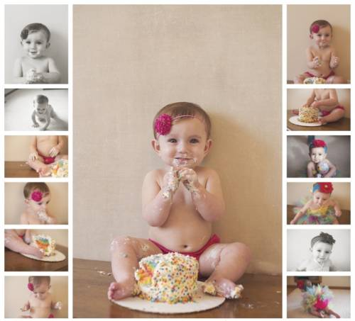 Album infantil smash the cake - fotos