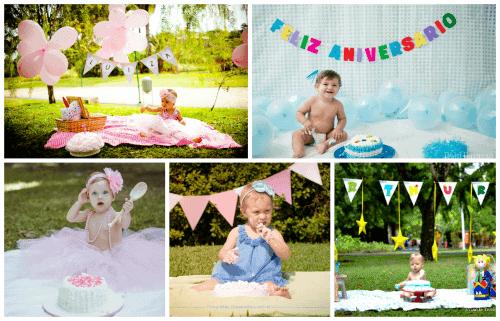 Fotos de bebês fazendo smash the cake
