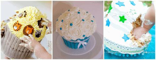 Smash the cake com cupcake - dicas