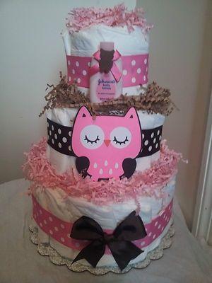 Como fazer bolo de fraldas rosa e marrom gastando pouco