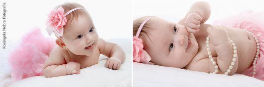 Dicas para um book de bebê de 3 meses menina