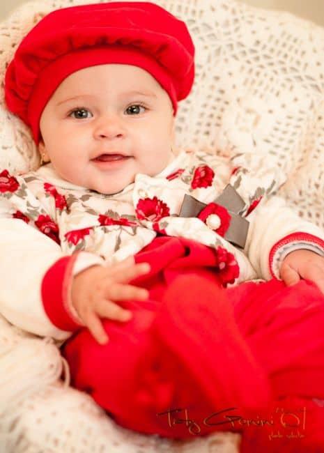 Ideias criativas para ensaio de bebê pequeno